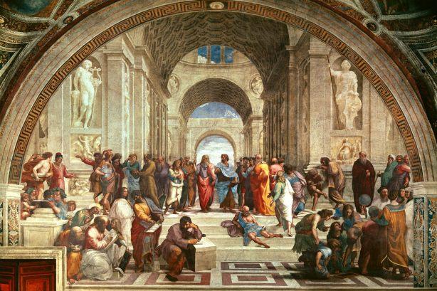 La Escuela de Atenas, por Rafaello de Sanzio, (1508 y 1511)